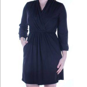 Bar III Wrap Dress Black
